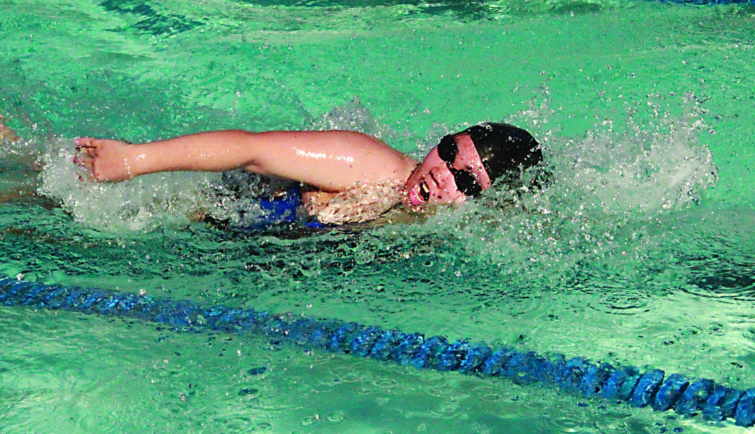 Marymount Swimmer Breaks School Record 34 N 118 W